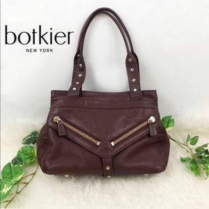 Botkier Trigger Medium Satchel Bag in Wine